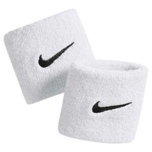 Nike Schweißband Logo Swoosh Wristbands Blanc-afficher Le Titre D'origine