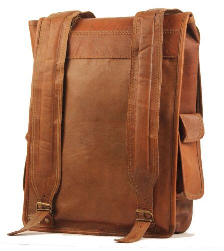 "Genuine leather Vintage Backpack laptop satchel brown vintage handmade bag 16/"""