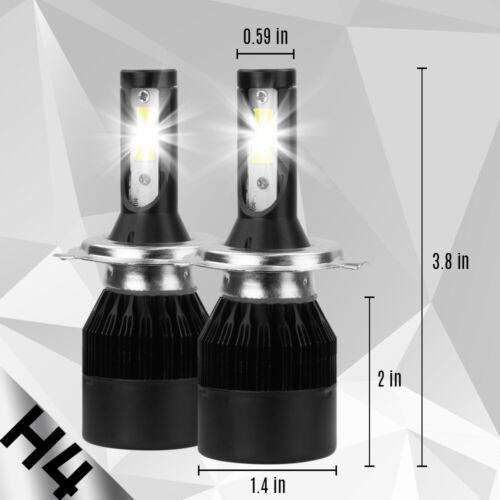 CREE H4 HB2 9003 1800W 270000LM 4-Sided LED Headlight Kit Hi//Lo Power Bulb 6000K