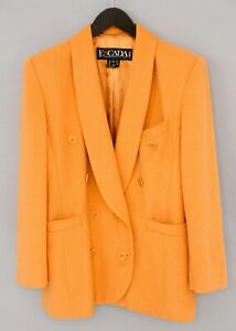 Women-Escada-By-Margaretha-Ley-Blazer-Jacket-Wool-Cashmere-F42-UK14-L-QDA751
