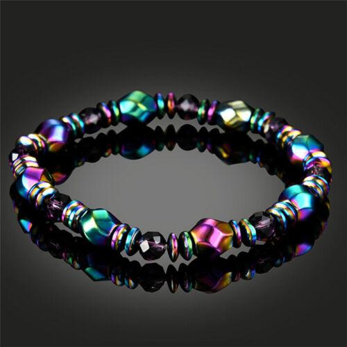 Perles de bracelet magnétique multicolore de perte de poids