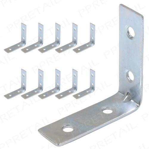 10x L Shaped 50mm Corner Brace Bracket~HIGH QUALITY~Shelf Support Repair Joint