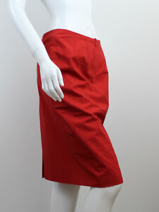 3888702f0b36 Image is loading BURBERRY-WOMEN-039-S-RED-SKIRT-SIZE-UK8