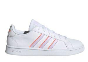 Adidas GRAND COURT BASE EG4029 Blanc Glycines Chaussures Femme Baskets Sportif