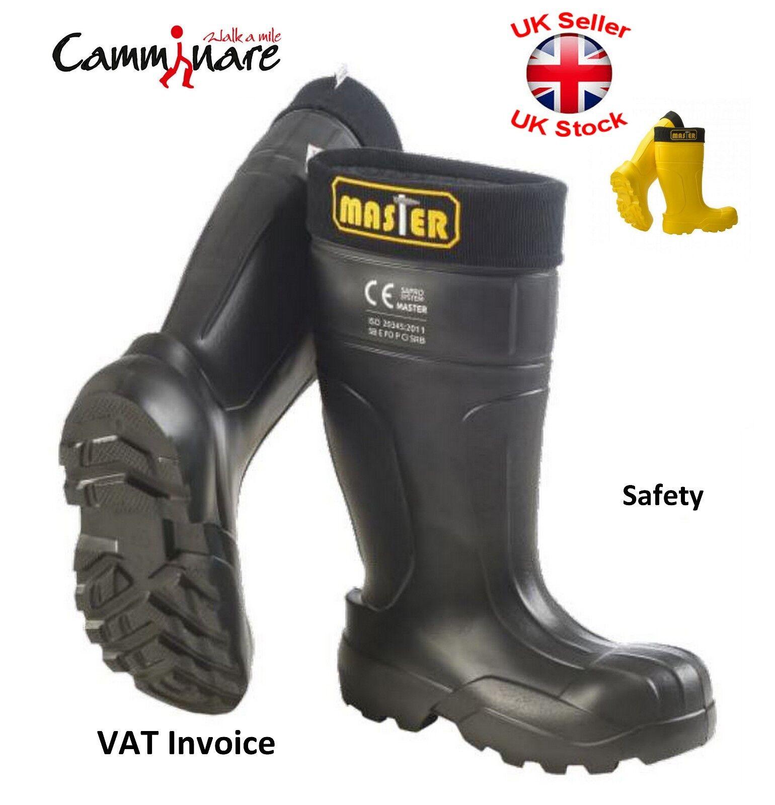 Camminare la piena sicurezza leggero in nero Gomma Wellingtons Stivali EVA nero in MASTER d7cd0b