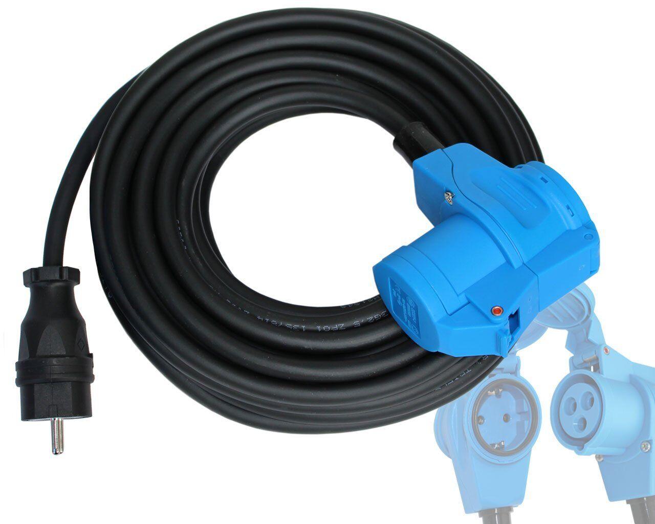 Adapter Kabel Camping Verlängerung H07 3x2,5 mit Winkelkupplung Caravan ab 5-25m