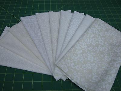 10 Fat Quarter Quilt Fabric Lot - Tone on Tone OA