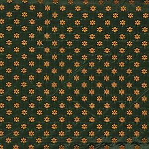lee jofa italian silk cotton weave gold flowers on green upholstery