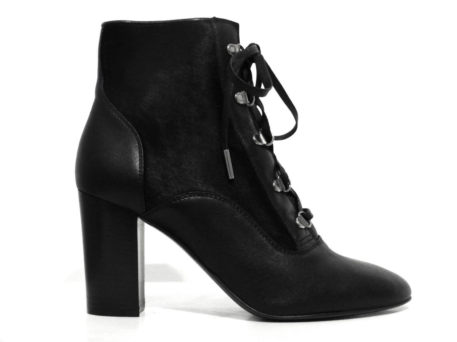LANVIN Chaussures Bottines noir bottines bottes Calf real fur noir eu 39 Neuf New