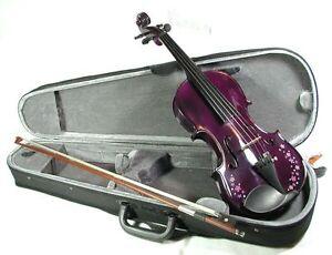 Geige-Violine-flower-power-komplette-Garnitur-von-Cherrystone