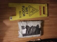 Caution Wet Floor Sign With A Brand New Big Broom Sweeper Head