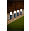 4pk-Solar-Powered-Rattan-Effect-Post-Solar-Lights-Garden-Outdoor-Decor thumbnail 3