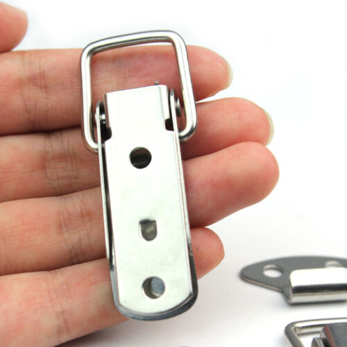 4pc Stainless Spring Loaded Toggle Case Chest Trunk Latch Catch Clamp Clip mode