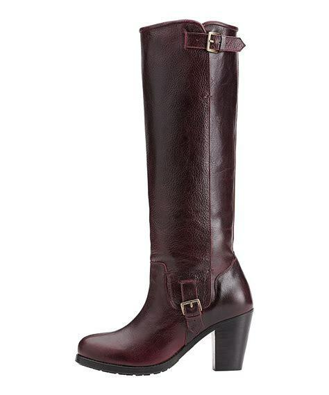 New w o Box Ariat Women's gold Coast Size  8 Burgundy Leather Knee High Boots  clearance