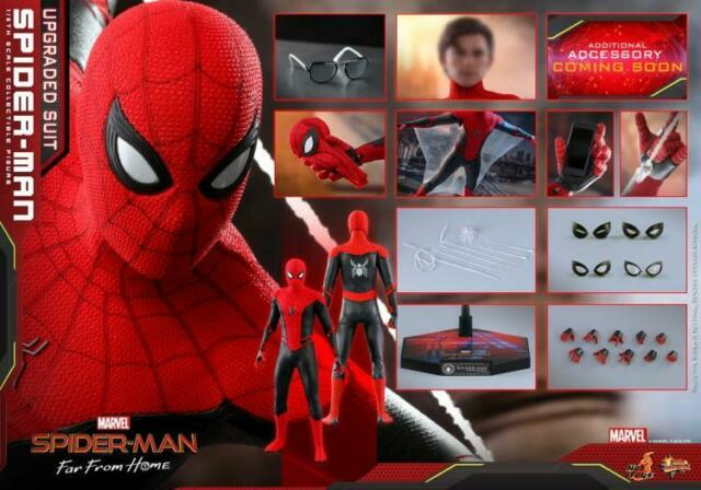 Hot Toys HT MMS542 1/6 Spider-Man Far From Home Upgraded Suit Action Figure Doll