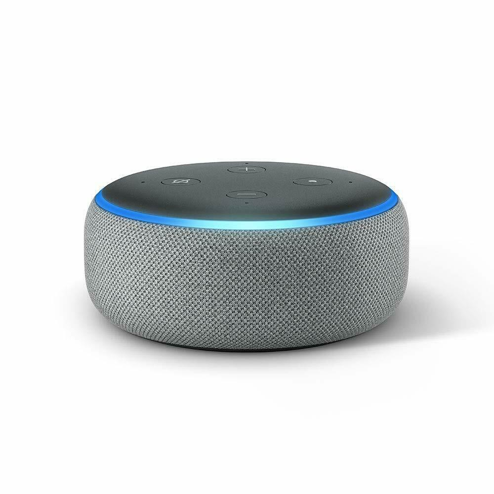amazon all-new echo dot 3rd generation smart speaker with clock