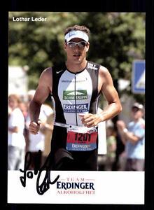 Lothar Lederer Autogrammkarte Original Signiert Triathlon + A 134053