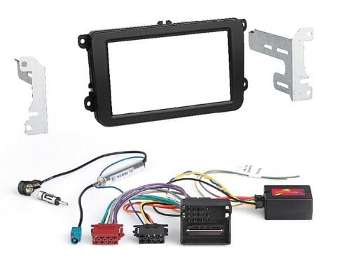Doble DIN radio kit de integracion CanBus diafragma adecuado para Skoda Fabia Rapid Roomster