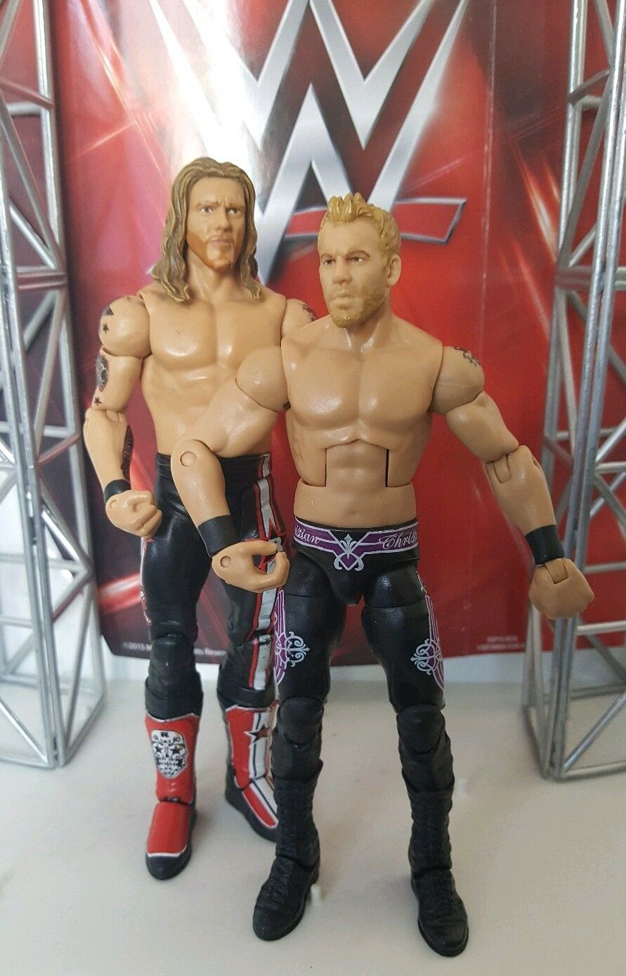 WWE MATTEL SERIES ELITE BUILD A FIGURE PPV CHRISTIAN AND EDGE WRESTLING FIGURES