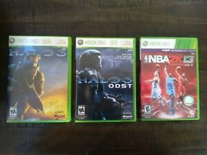 Xbox-360-games-lot-Halo-3-Halo-3-ODST-and-NBA-2K13