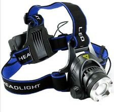 1800LM 3 Mode CREE XM-L T6 Led HeadLamp Headlight Head Light Lamp Zoomable Torch