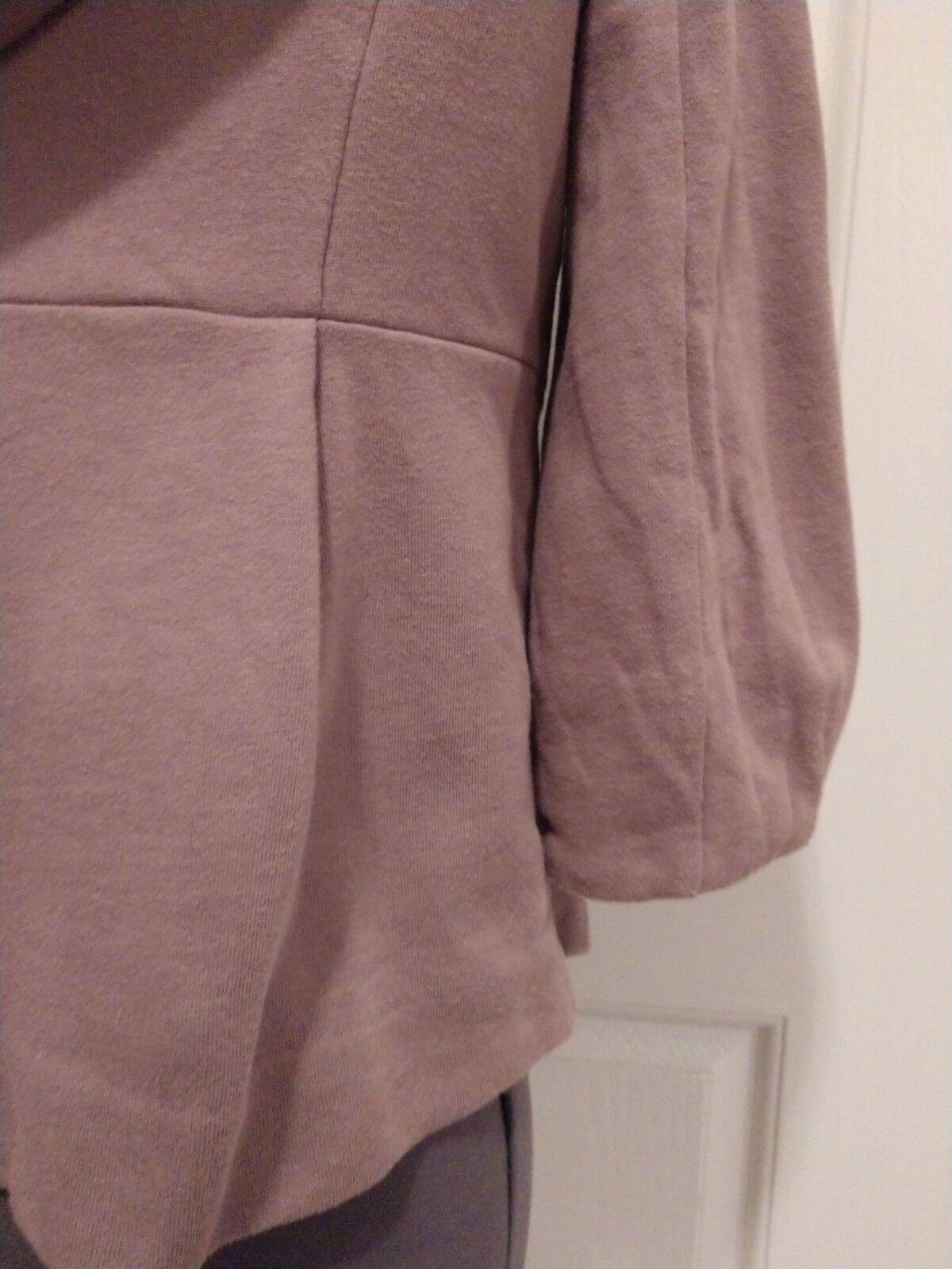 Anthropologie allihop Blazer Blazer Blazer cardigan hoodie 100% cotton 3 4 sleeve peplum sz S 9c4cd8