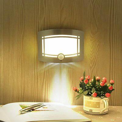 Battery-operated Motion Sensor Activated LED Wall Sconce Hallway Night Light