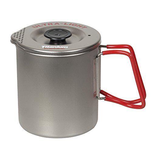 EVERNEW Titanium Pasta Cooker Pot Small RED ECA521R