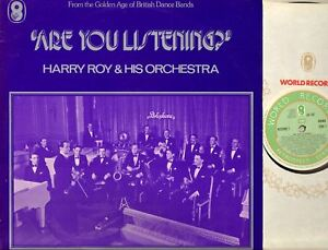 Details about HARRY ROY AND HIS ORCHESTRA are you listening DOUBLE LP EX/VG  SH 187/8 big-band