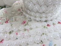 27 Yards Pearl Flower Ribbon Roll/pearly Garland/craft/plastic/bead/trim R68-a