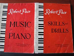 2 Robert Pace-musique Pour Piano & Skills And Drills 1961 Pbs-instruction-afficher Le Titre D'origine Doux Et LéGer