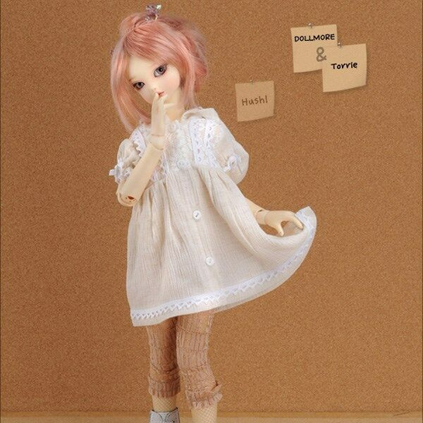 BJD 18cm//7in Iris Mini Doll Little Girl Unpainted Bare Doll without Any Make Up