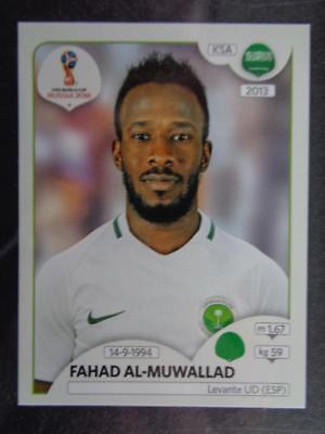 Saudi-Arabien Sticker 71 Panini WM 2018 World Cup Russia Fahad Al-Muwallad