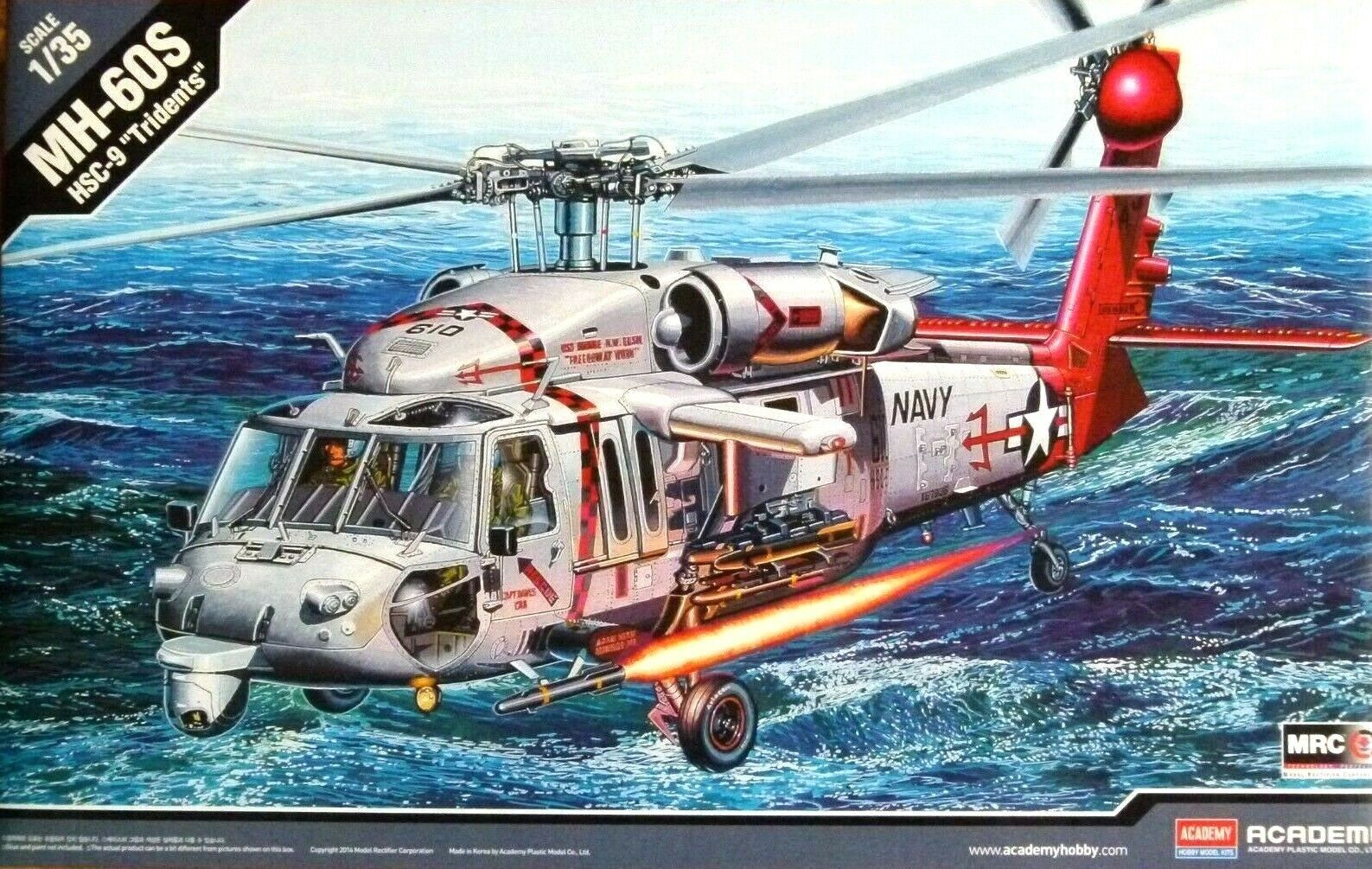 Academy 1 35 MH-60S HSC-9  Tridents  Helicopter Model Kit