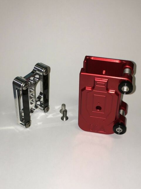1 SILVER SAFARILAND DOUBLE ALPHA CR SPEED COMPATIBLE BILLET ALUMINUM MAG POUCH