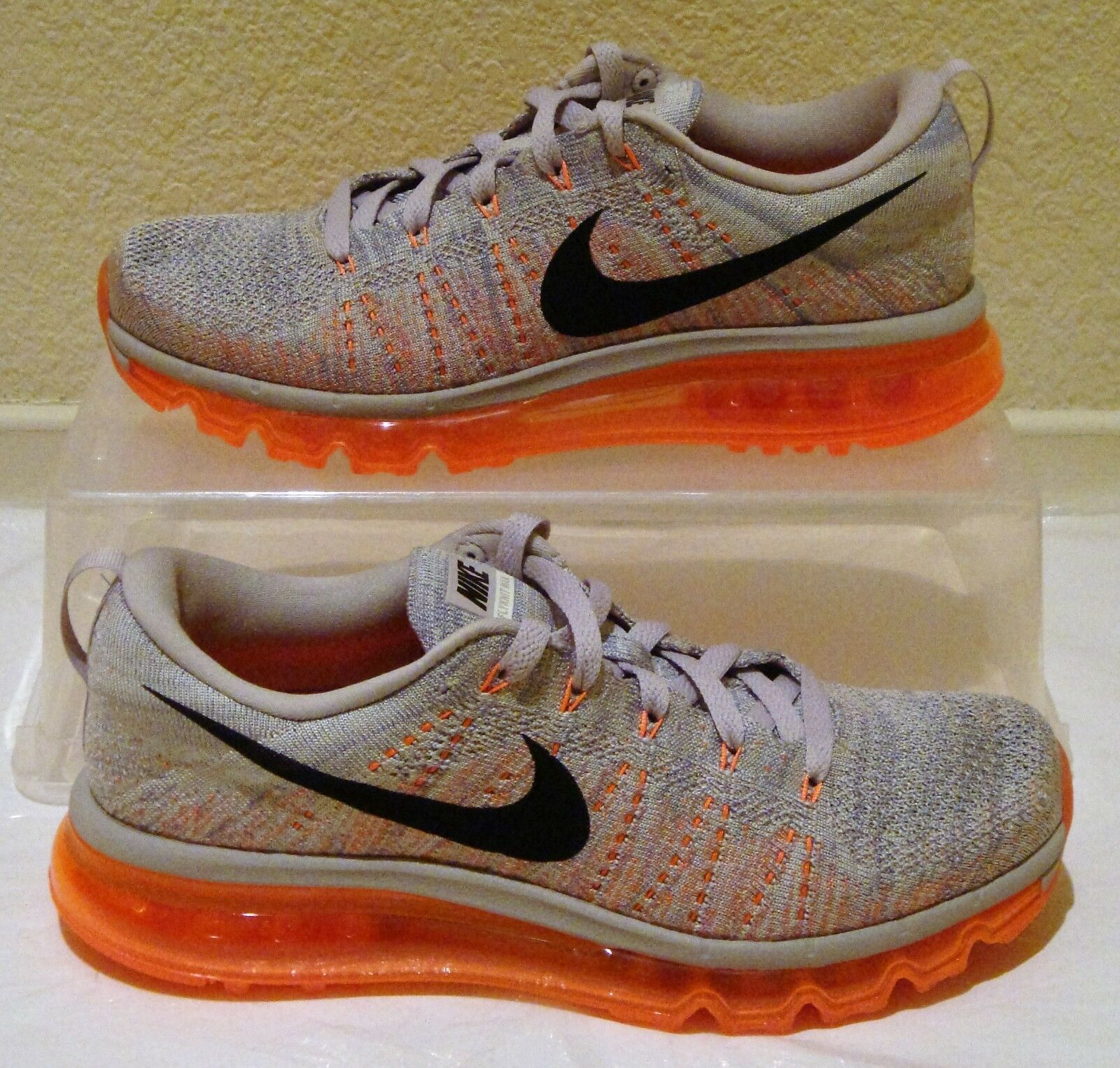 New Nike Air Flyknit Max Ash orange Sail Womens US Size 9