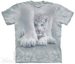 WOMEN-039-S-T-SHIRT-TIGER-SHELTERED-STONEWASHED-MULTICOLORED-GRAPHIC-TEE-SIZE-LARGE