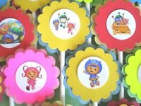 30 Team Umizoomi Cupcake Toppers Birthday Party Favors, Baby Shower Decor 30