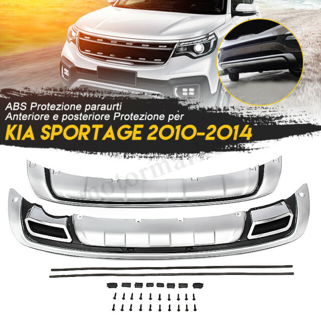 ABS Front Rear Bumper Guard Board Protection Body Kit For KIA Sportage 2010-2014