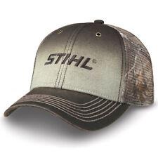 STIHL Chainsaws *GREY ORANGE /& TAN MESH BACK SNAPBACK* LOGO HAT *BRAND NEW* ST28