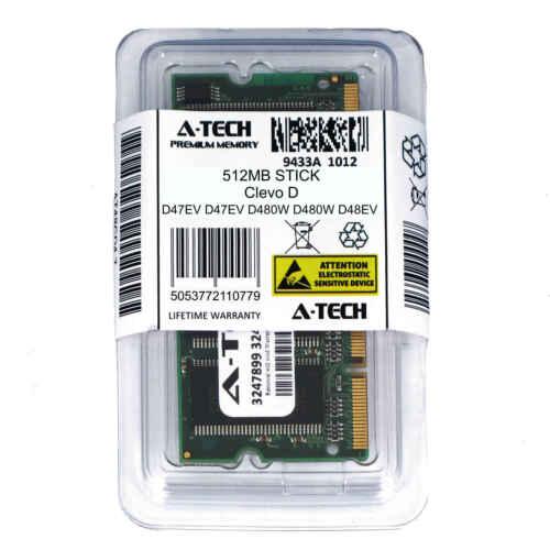 512MB SODIMM Clevo D47EV D480W D48EV D500P D510P D520P D700T D750W Ram Memory