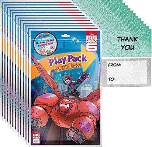 12 Packs Bendon Big Hero 6 Play Pack Grab /& Go Party Favors