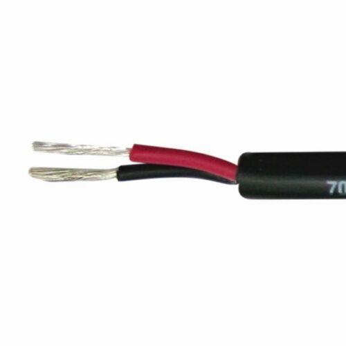 2 x 2,5mm² Marine Kabel zweiadrig verzinnt schwarz Stromkabel Kabel