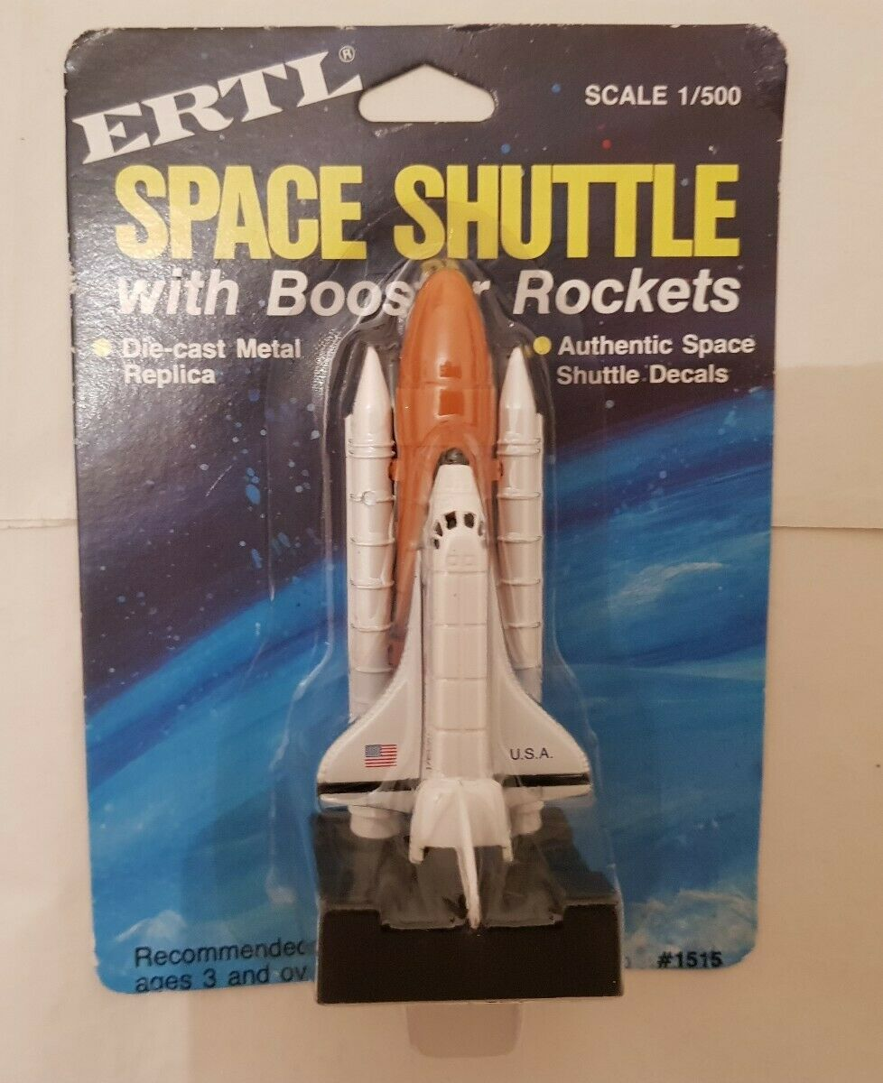 ERTL NASA SPACE SHUTTLE WITH BOOSTER ROCKETS DIECAST NEW & SEALED