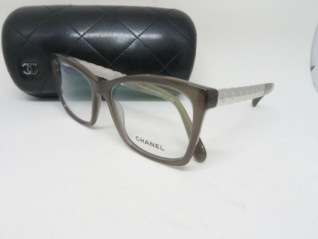 CHANEL 3356 C.677 52 •16 140 Brown on Silver Metal Authentic ...