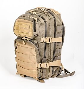 Zaino escursione militare vegetato 25 LT 45x30x18 camo rucksack pack with patch