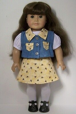 "Debs WHITE Eyelet Shirt Floral Capri Pants Doll Clothes For 18/"" American Girl"