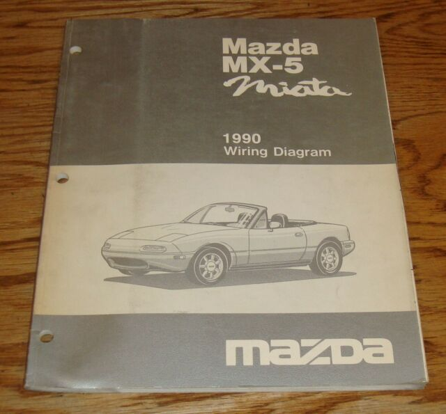 Original 1990 Mazda MX-5 Miata Wiring Diagram Manual 90 | eBay