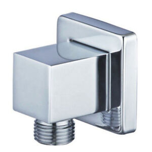 Wall elbow square with shower bracket wall arch brass chrome new