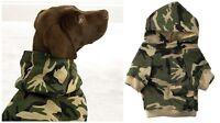 Green Camo Dog Hoodies High Quality 100% Cotton Kangaroo Pocket Dogs Sweatshirt
